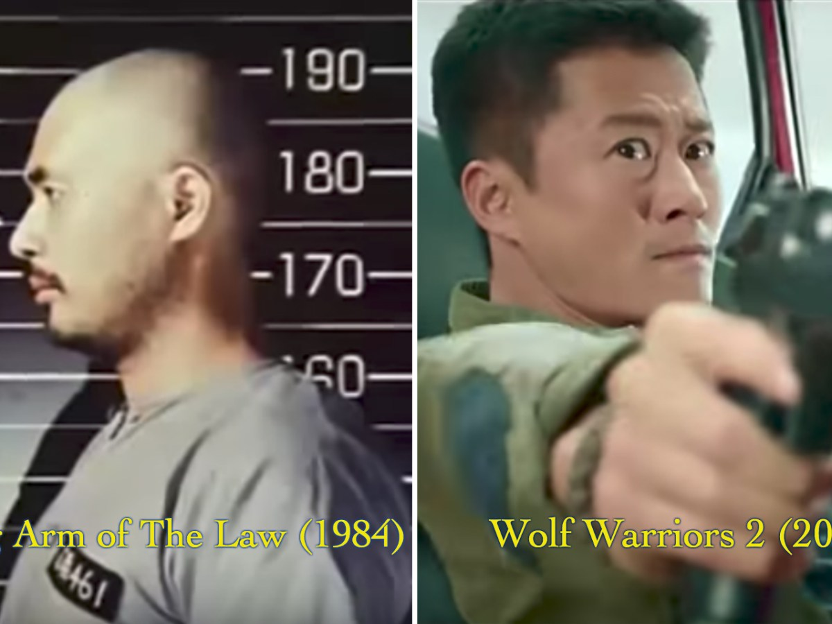 Former Chinese soldiers were portrayed as robbers in 'Long Arm Of The Law' (1984) but they become superheroes in 'Wolf Warriors 2' (2017). Photo: Youtube