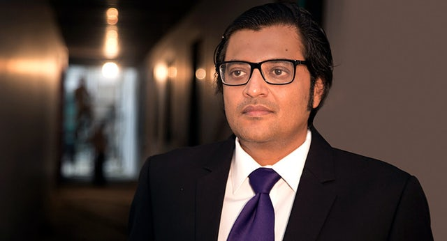 TV journalist Arnab Goswami. Photo: Swarajya