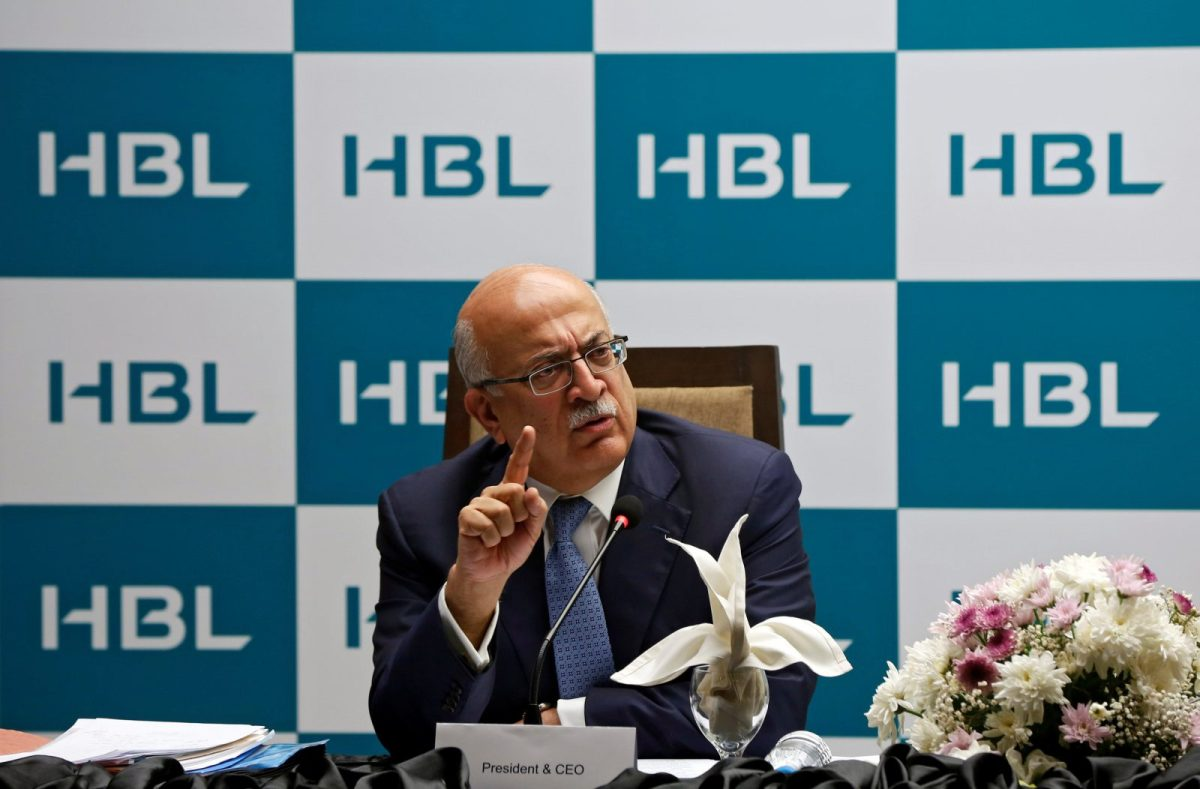 Nauman K. Dar, President and Chief Executive Officer of Habib Bank Limited (HBL), gives a news conference in Karachi, Pakistan, on August 29, 2017. Photo: Reuters / Akhtar Soomro