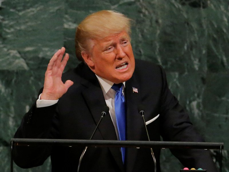 US President Donald Trump delivers a threat-filled address at the 72nd United Nations General Assembly on September 19, 2017. Yet science fiction envisages an even bleaker future. Photo: Reuters / Lucas Jackson