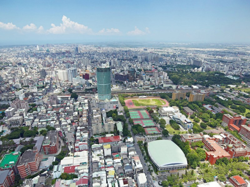 Tainan City in southern Taiwan, where at least a dozen people have dengue fever. Photo: Wikimedia Commons/ Mersh