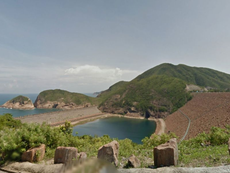 East Dam of High Island Reservoir in Sai Kung, New Territories. Photo: Google Maps