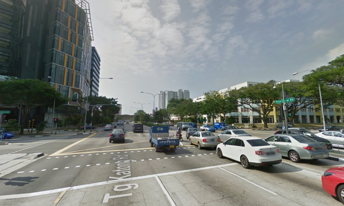 The man was arrested in Paya Lebar Road in Singapore on Sunday. Photo: Google Maps