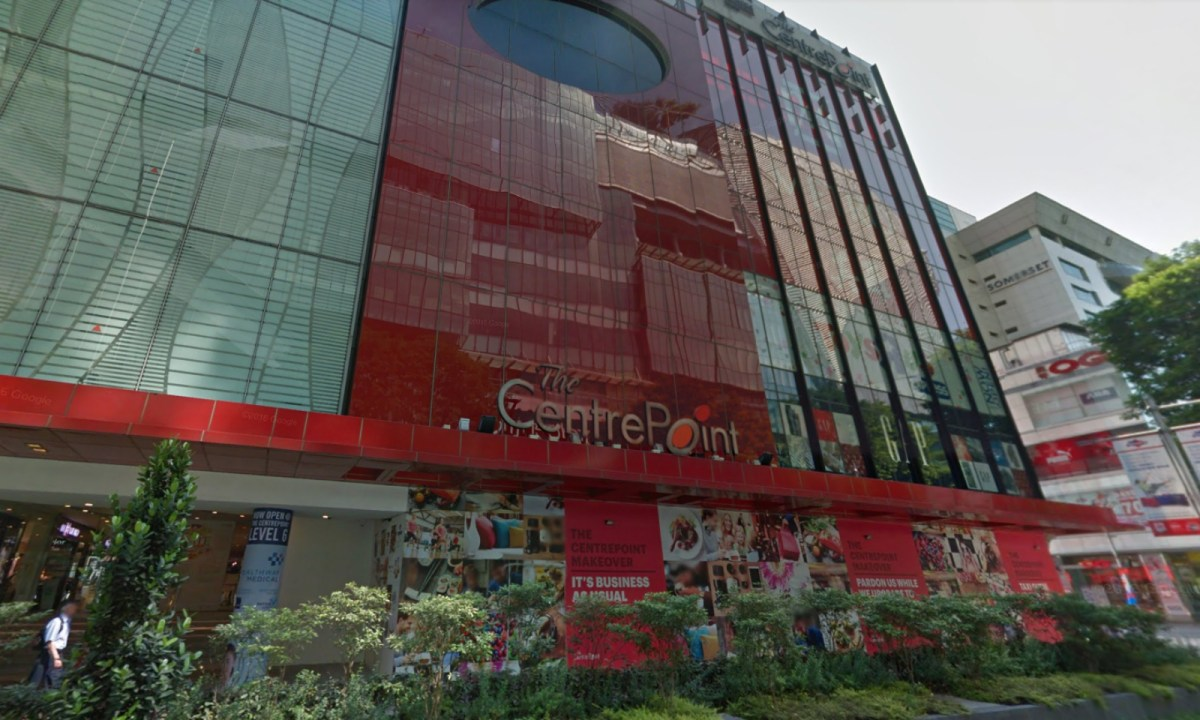 The Centrepoint at 176 Orchard Road in Singapore. Photo: Google Maps