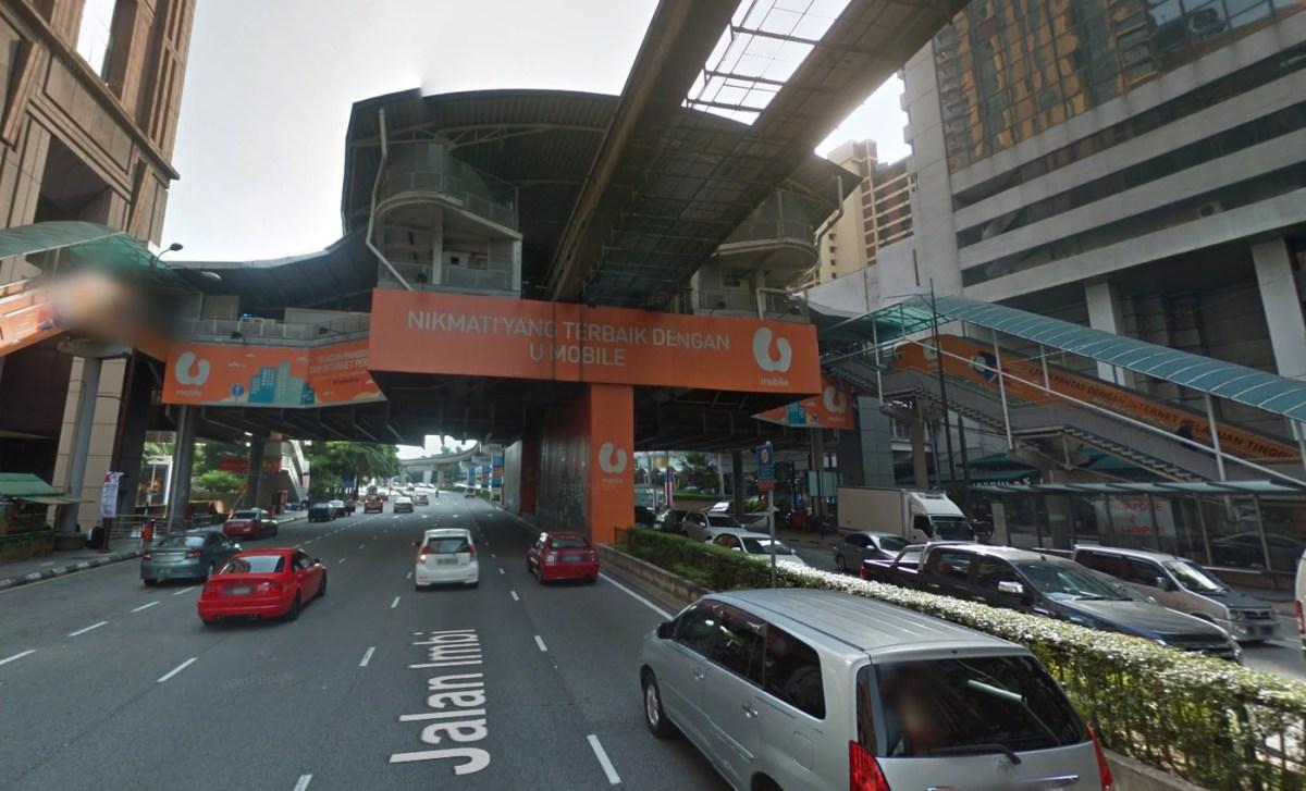 Imbi Monorail station in Kuala Lumpur, Malaysia. Photo: Google Maps