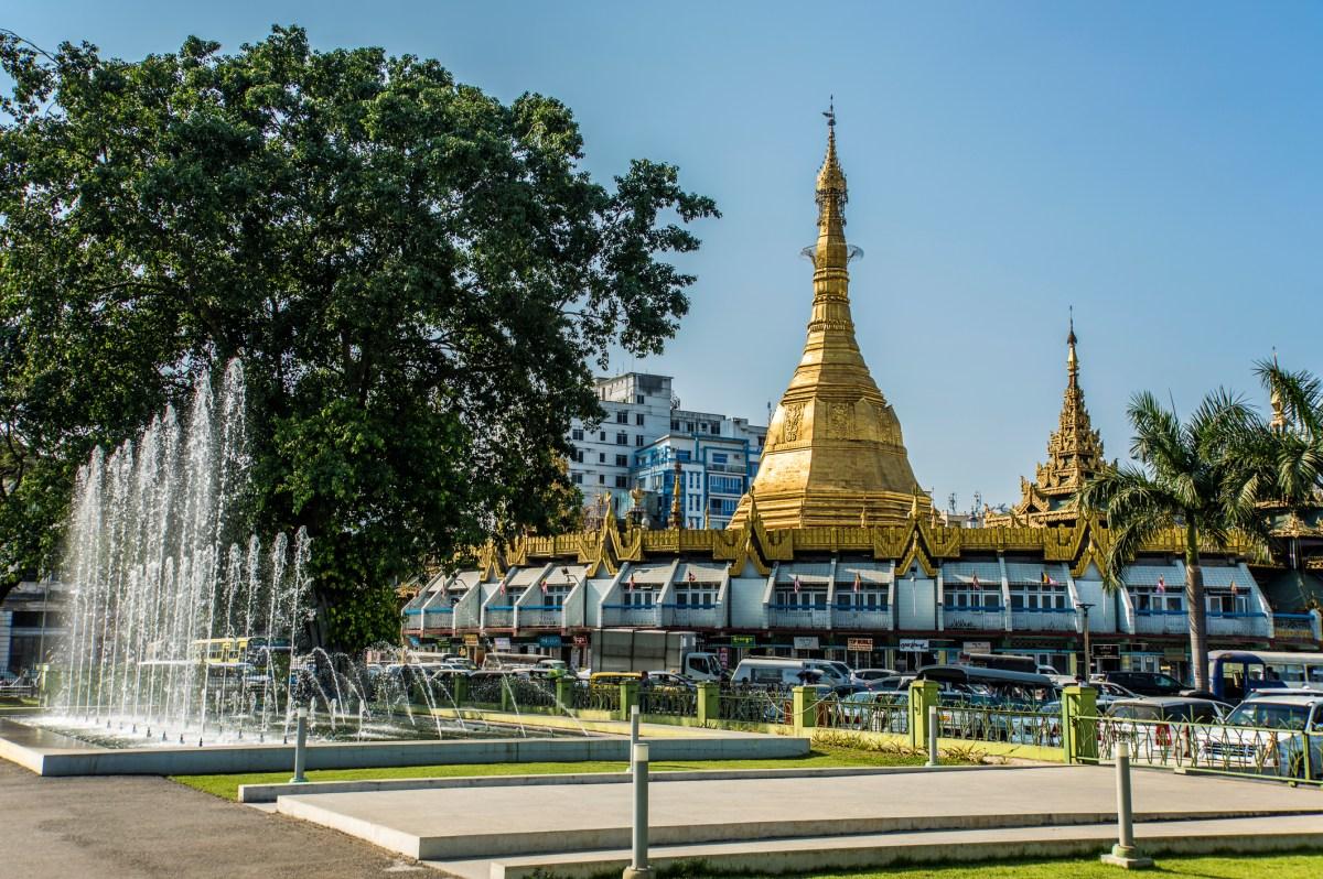 Sule Pagoda in central Yangon