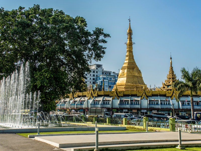 Sule Pagoda in central Yangon