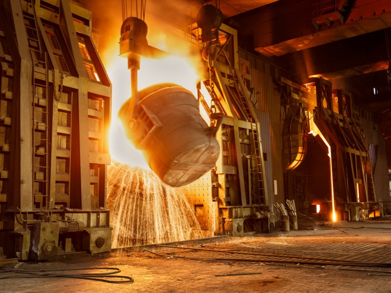 Metal smelting furnace in Chinese steel mills Photo: iStock