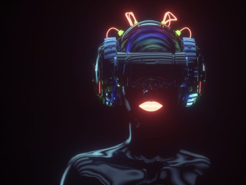 Female cyborg with VR headset. Photo: iStock