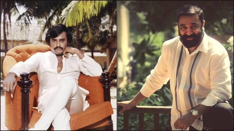 Film stars Kamal Haasan and Rajinikanth. Photo: money control.com
