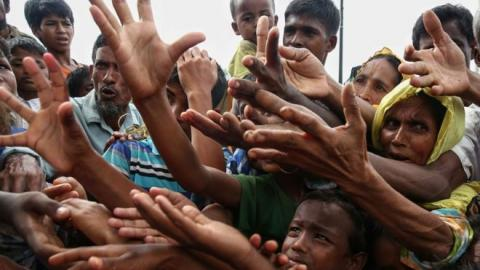 Members of Myanmar's Rohingya Muslim minority have been fleeing persecution in the Southeast Asian country's Rakhine state. Photo: NDTV