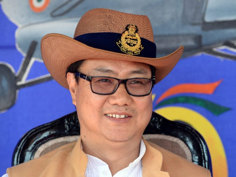 Junior Home Minister, Kiren Rijiju. Photo: AFP / Prakash Singh
