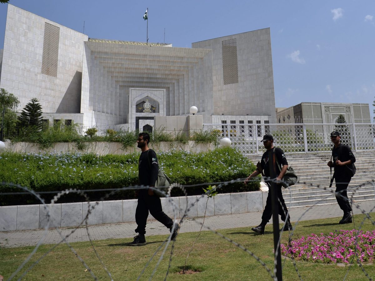 A view from outside Pakistan's Supreme Court building in Islamabad. Photo: AFP / Aamir Queshi