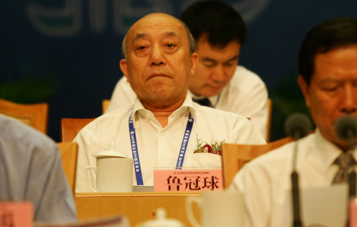 Lu Guanqiu, Chairman of Wanxiang Group, is seen during the conference releasing the top 500 enterprises of China in Hanghzou, east Chinas Zhejiang province, Saturday, September 5, 2009. Photo: AFP