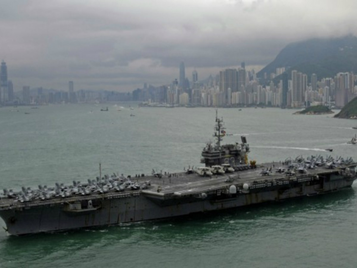 Strengthening the social components of state rule is the first requirement, but this isn't a function of US war policy. Photo: Aircraft carrier Kitty Hawk, US Navy