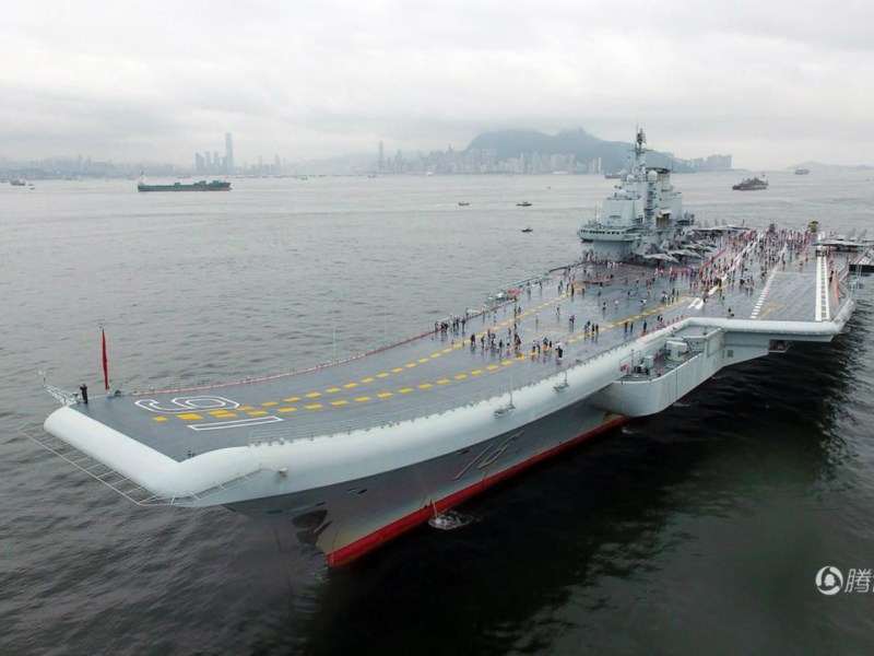 China's first aircraft carrier, the Liaoning, was bought from Ukraine. Photo: Xinhua