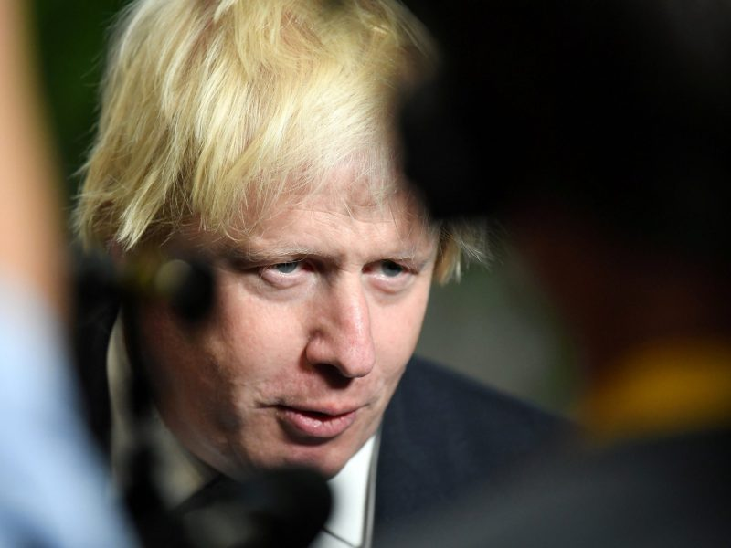 Former UK foreign secretary Boris Johnson. Photo: Reuters/Jeff J Mitchell