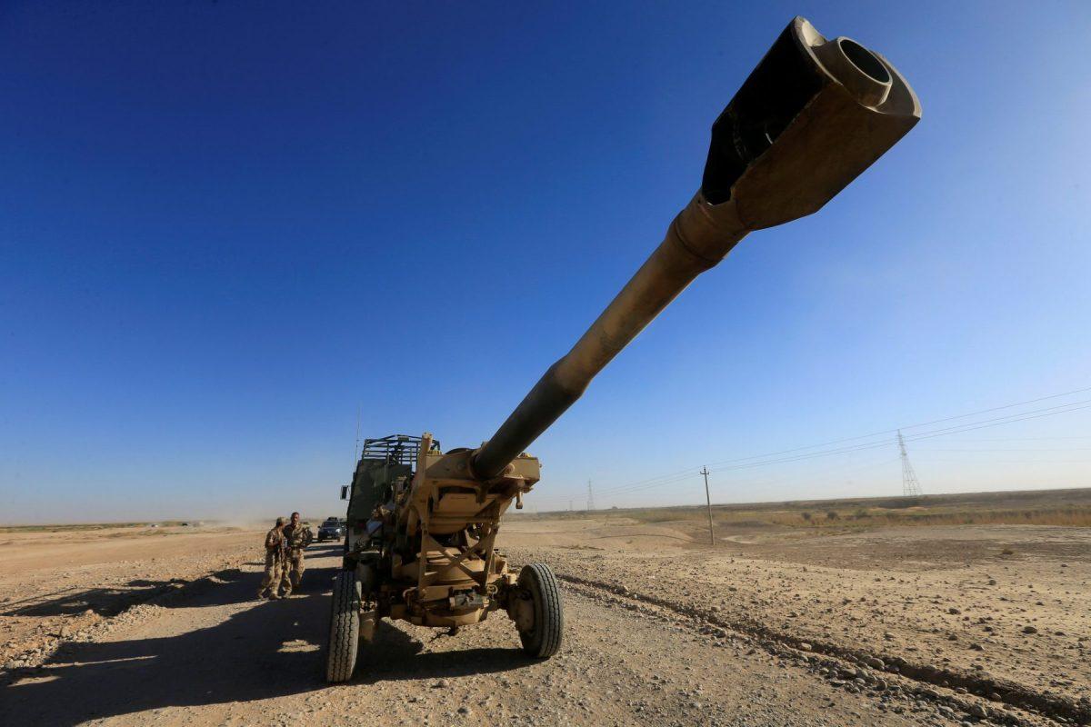 Artillery belonging to the Iraqi Security Forces reaches Kirkuk, Iraq, on October 17, 2017. Photo: Reuters / Alaa Al-Marjani