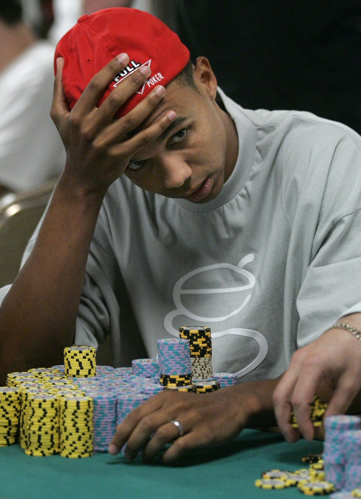 Phil Ivey is pictured in 2005 at the World Series of Poker in Las Vegas, Nevada. Photo: Reuters / Steve Marcus