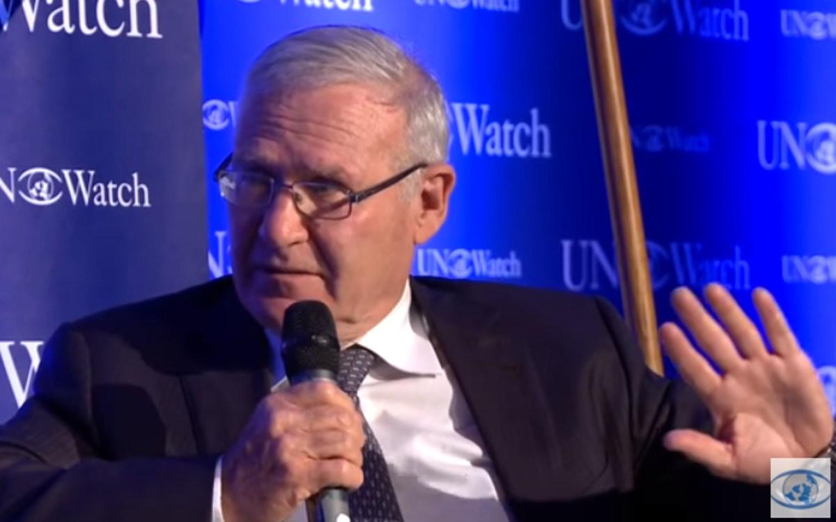 Former Israeli general Amos Yadlin. Source: UN Watch/Youtube screen grab