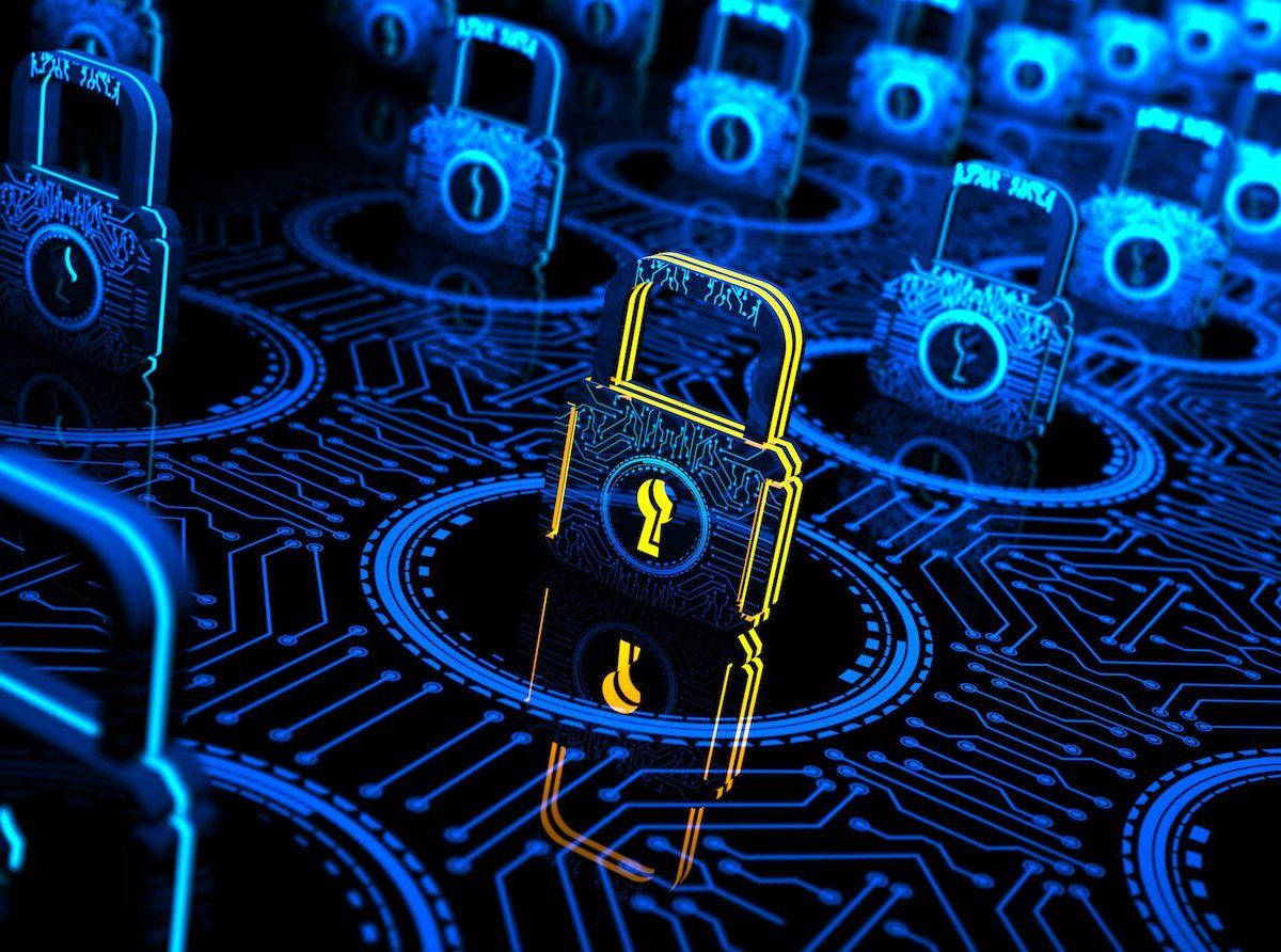 Abstract Digital concept showing an online network's cybersecurity optimization. Image: iStock/Getty Images