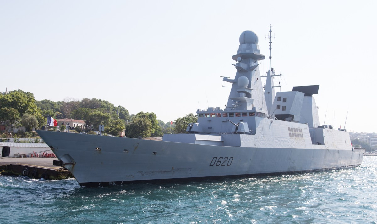 A French frigate docks in Istanbul. Photo: iStock