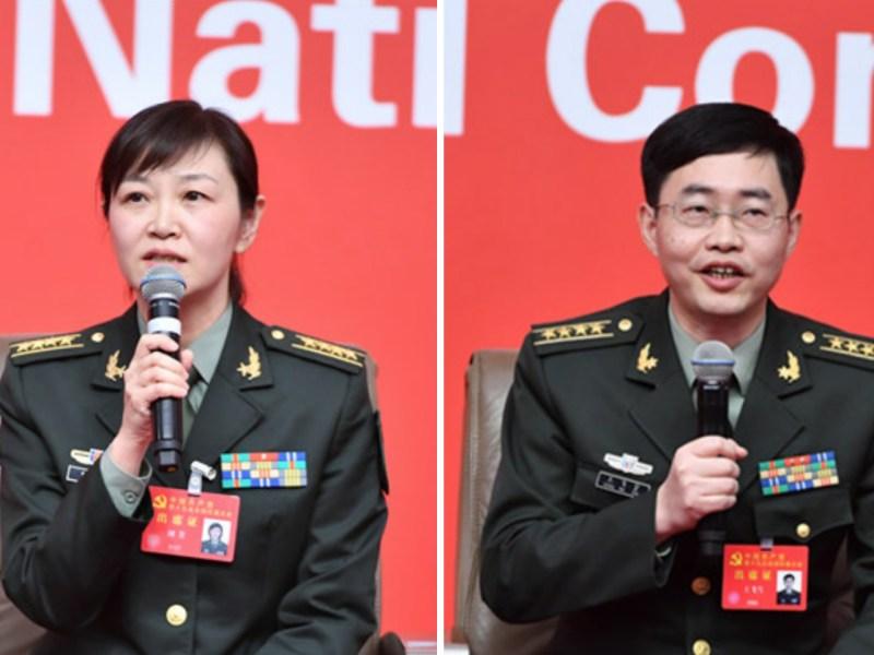 Liu Fang (left) and Wang Feixue. Photo: cpc.people.com.cn