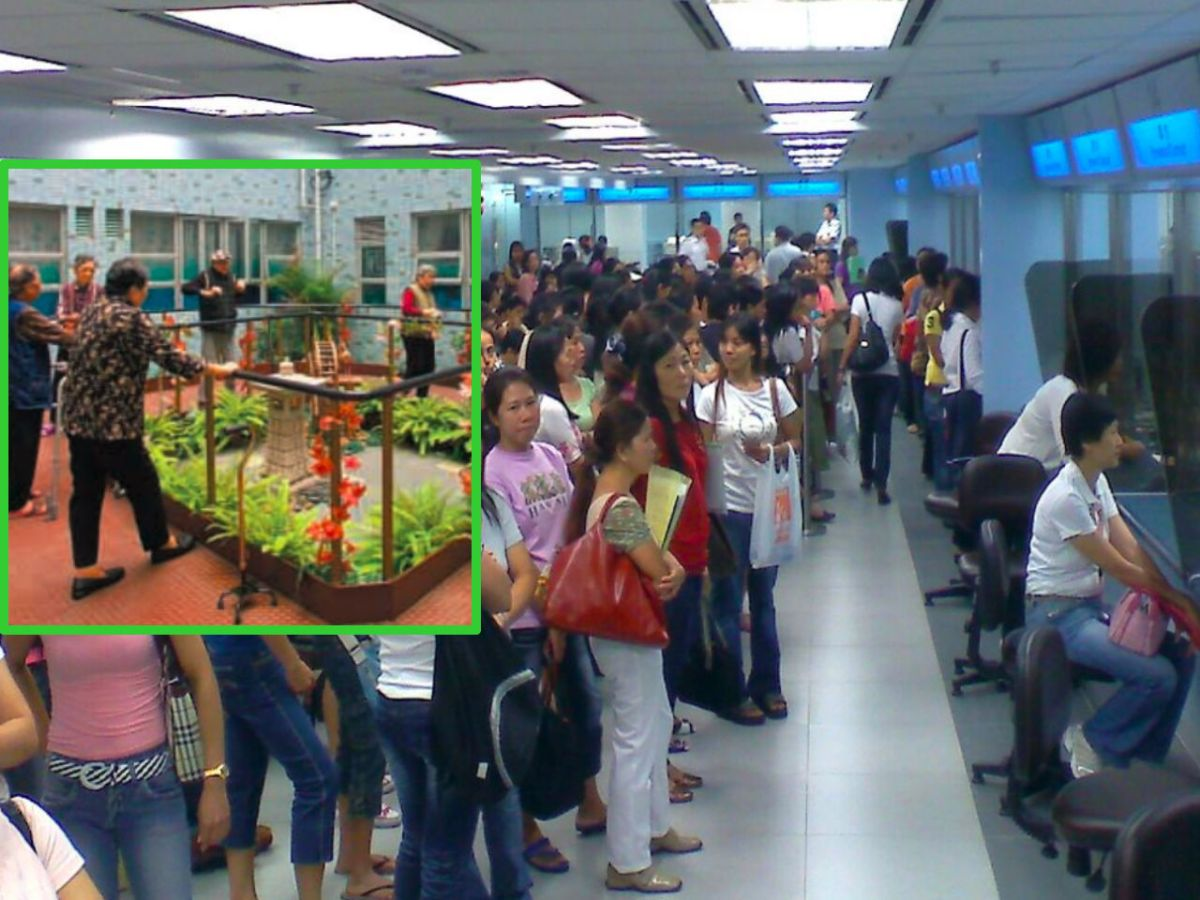 Foreign workers line up at the Immigration Department. Photo: Wikipedia, Social Welfare Department