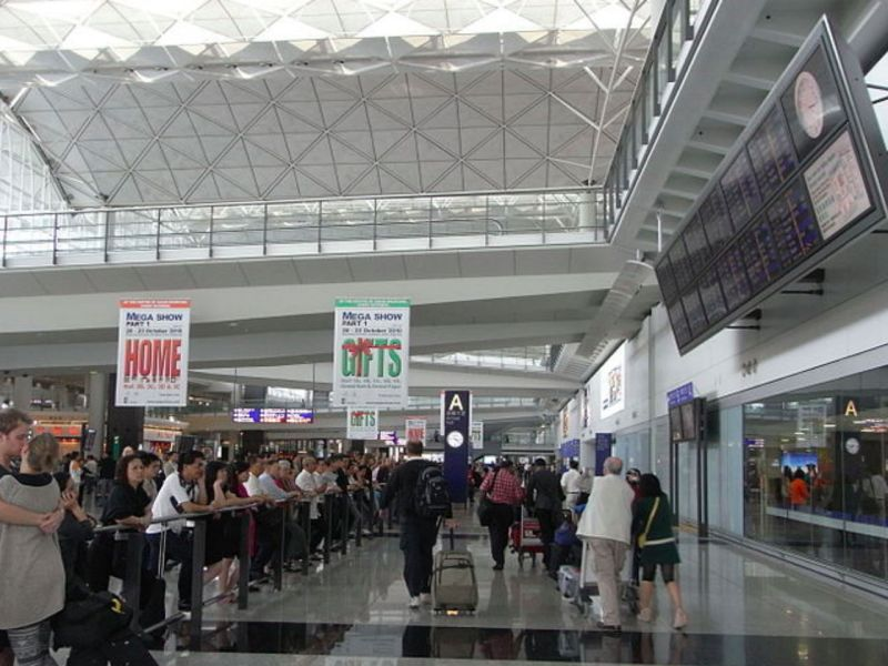 Hong Kong International Airport where the former barrister was arrested. Photo: Wikipedia