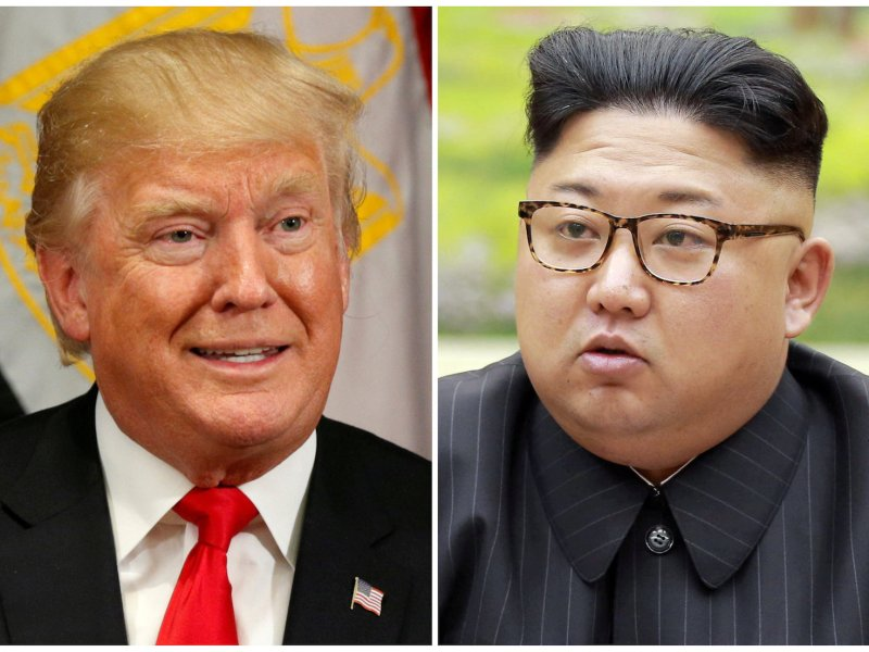 US President Donald Trump and North Korean leader Kim Jong-un in a combination photo. Photos: Reuters/Kevin Lamarque, KCNA/Handout via Reuters