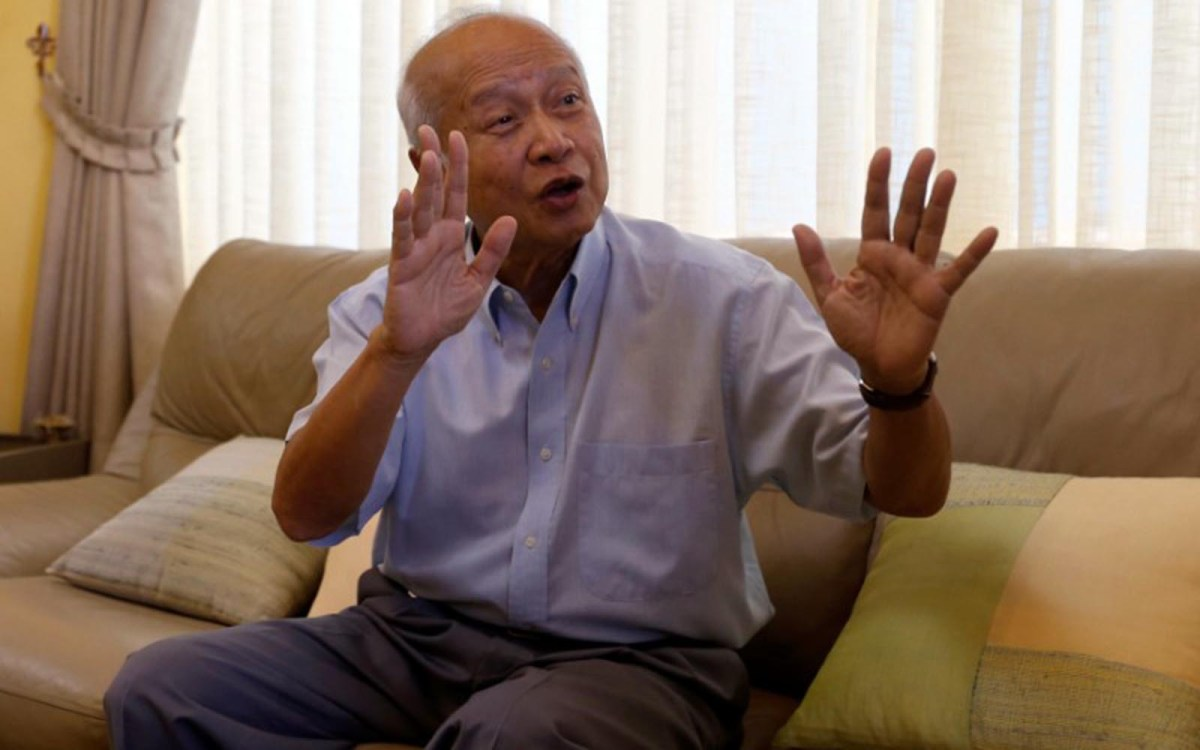 Prince Norodom Ranariddh gestures during an interview at his home in central Phnom Penh, Cambodia on October 14, 2017. Photo: Reuters/Samrang Pring