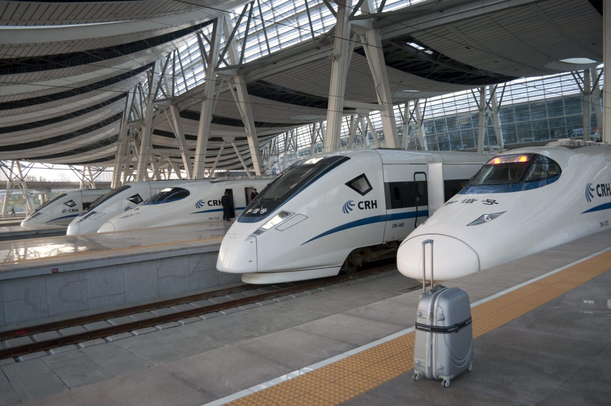 Five CRH high-speed trains in the new South Railway Station in Beijing. Photo: iStock