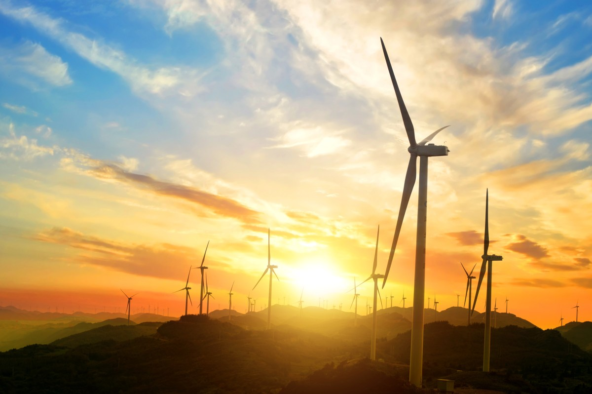 Wind power in the mountains. Photo: iStock