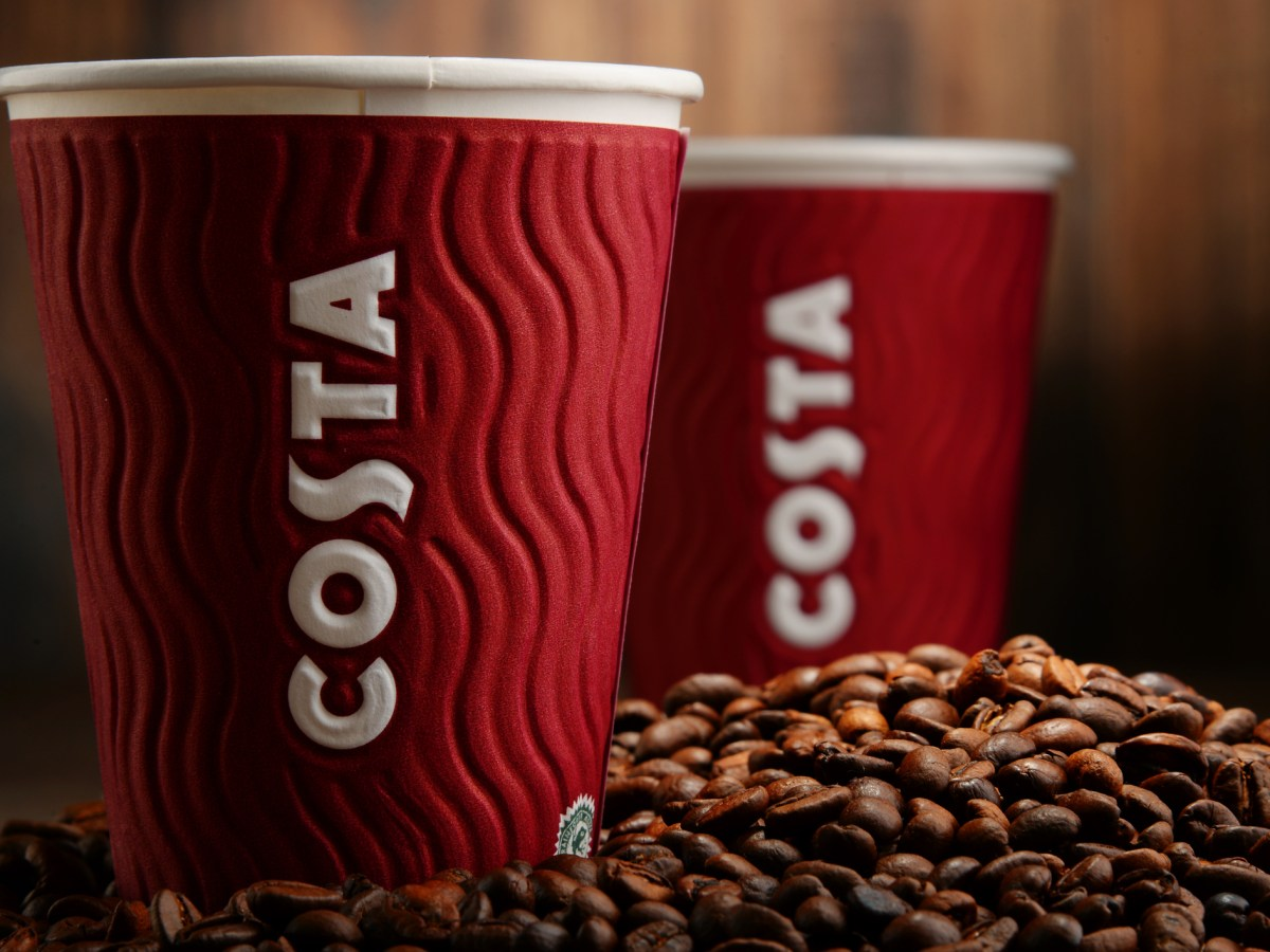 Costa Coffee is a British multinational coffeehouse company headquartered in Dunstable, Bedfordshire; second largest coffeehouse chain in the world. Photo: iStock