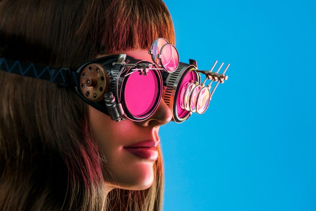Steampunk Future Vision Girl Photo: iStock