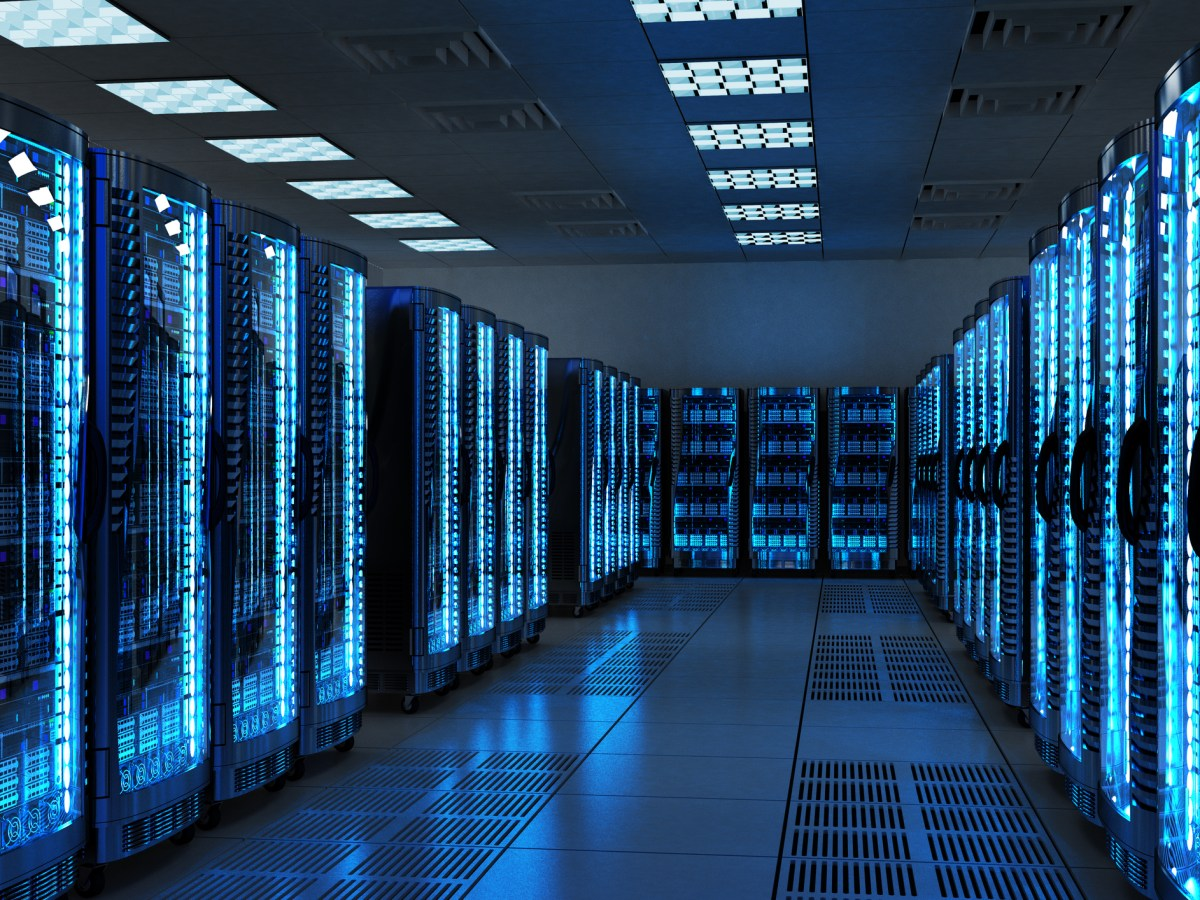 Server racks with telecommunication equipment in a server room. Photo: iStock