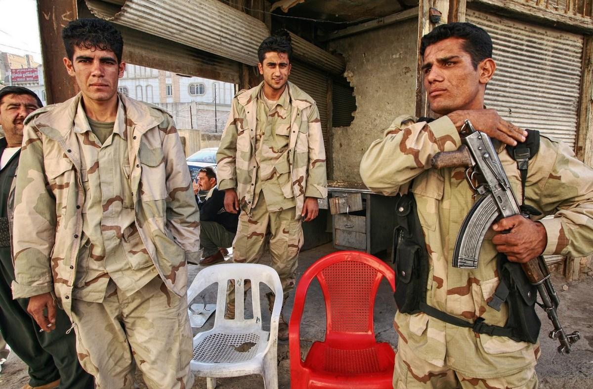Kurdish soldiers stand guard in Arbil, Kurdistan, Iraq. Photo: iStock