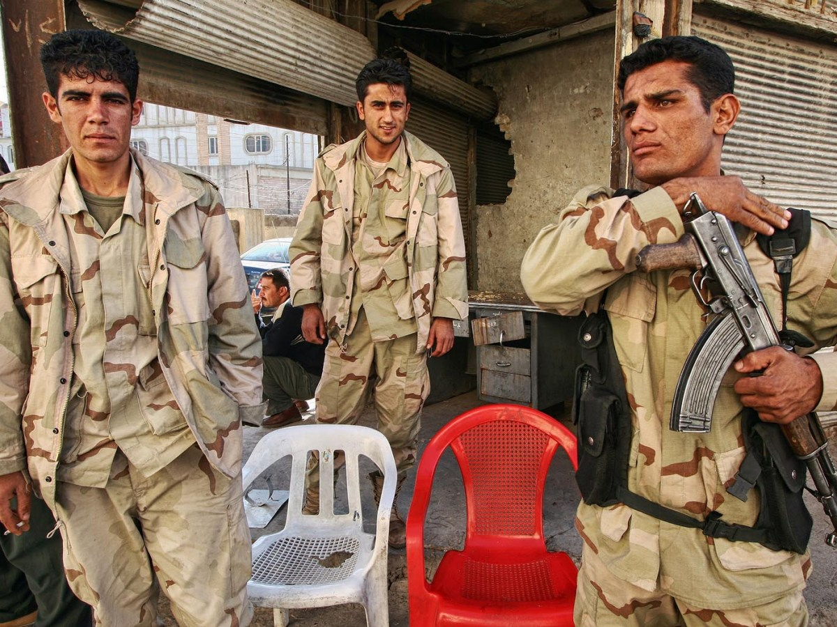 Kurdish soldiers stand guard in Arbil, Kurdistan, Iraq. Photo: iStock