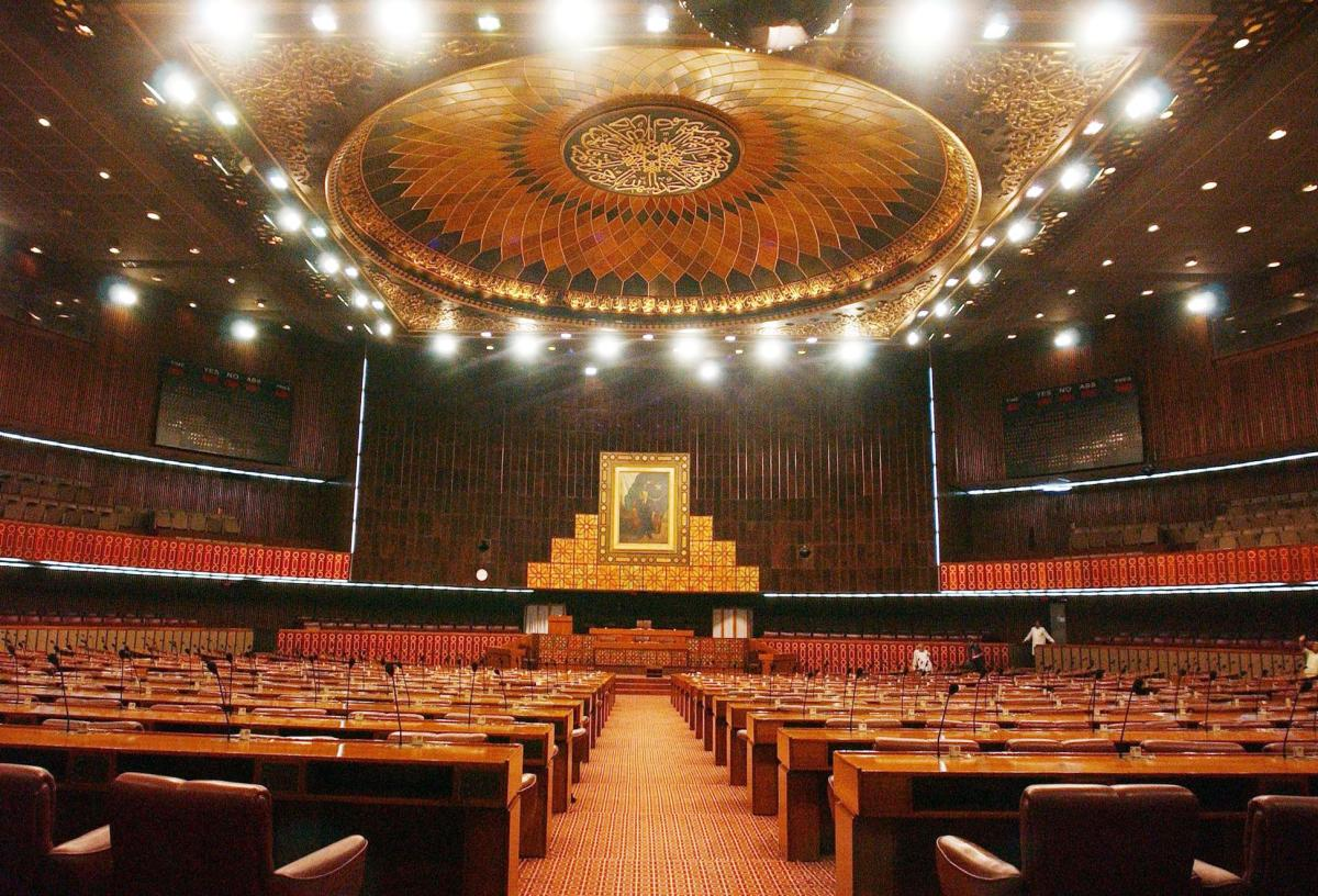 A view of the main hall of Pakistan's Parliament House. Photo: AFP