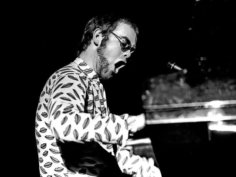 Elton John in 1972. Photo via Flickr
