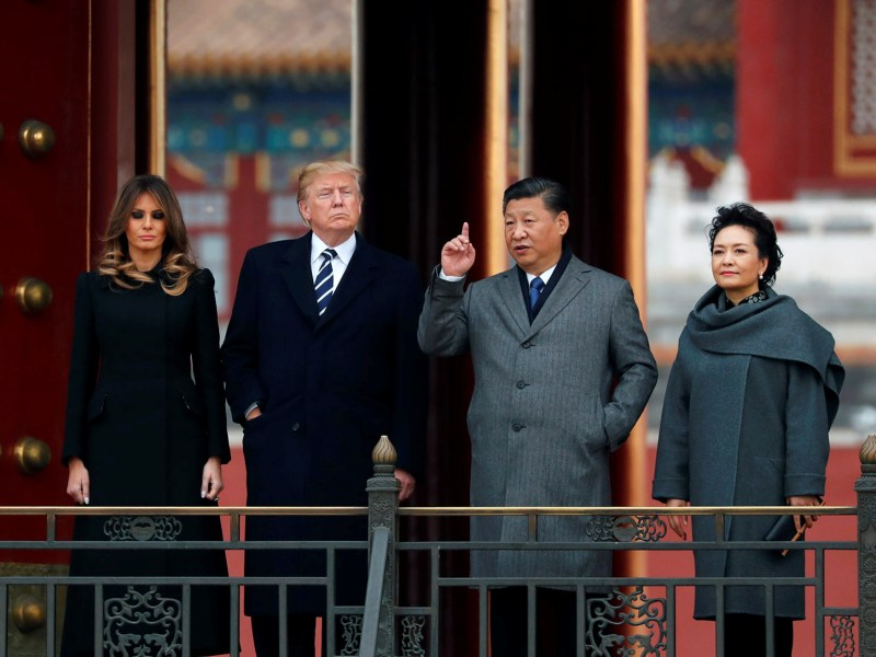 President Trump and Melania visit the Forbidden City with China's President Xi Jinping and China's First Lady Peng Liyuan, on November 10, 2017. Photo: Reuters / Jonathan Ernst
