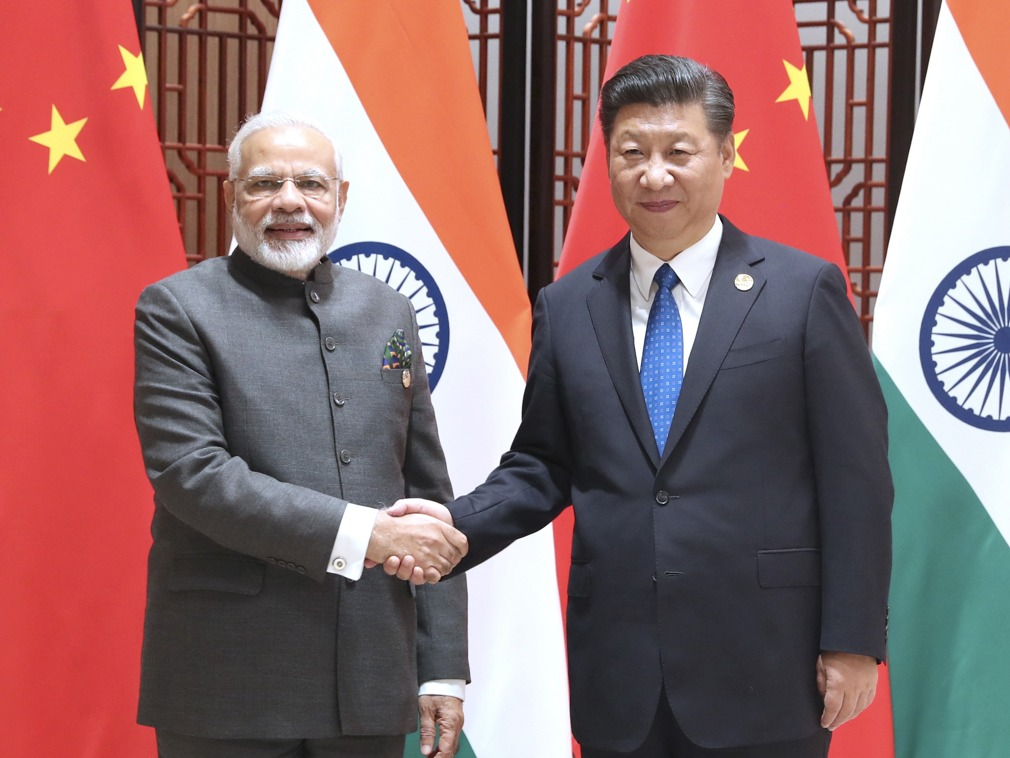 Indian Prime Minister Narendra Modi met with Chinese President Xi Jinping in Xiamen in September. Photo: Xinhua