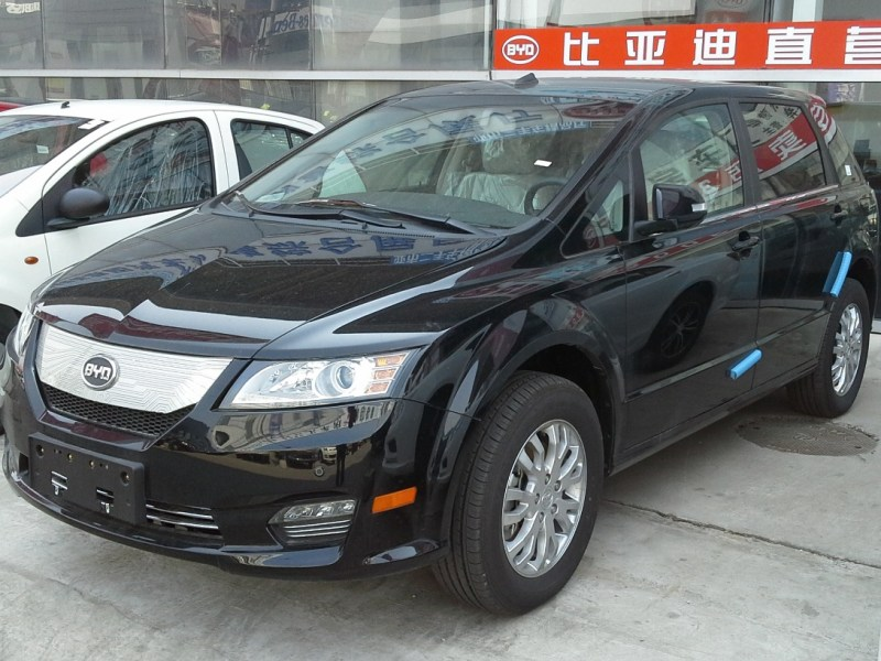 BYD e6, an all-electric MPV manufactured by BYD Auto. Photo: Wikimedia Commons