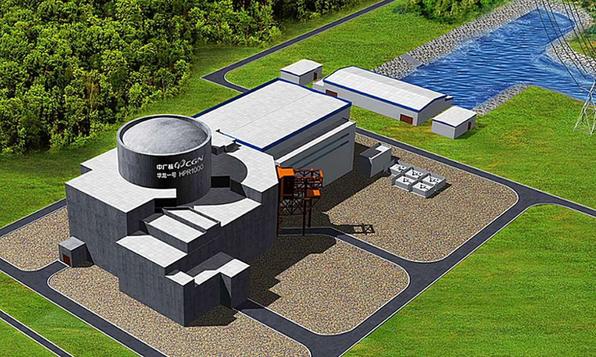 An artist's impression of the planned nuclear power station at Bradwell. Photo: CGN