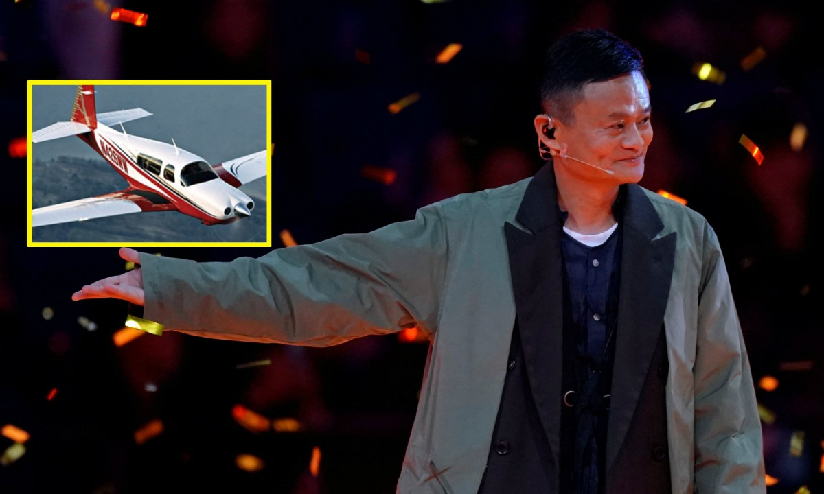 Jack Ma, chairman of Alibaba Group, attends a show during Alibaba Group's 11.11 Singles' Day global shopping festival in Shanghai, on November 10.  Photo: Reuters/Aly Song