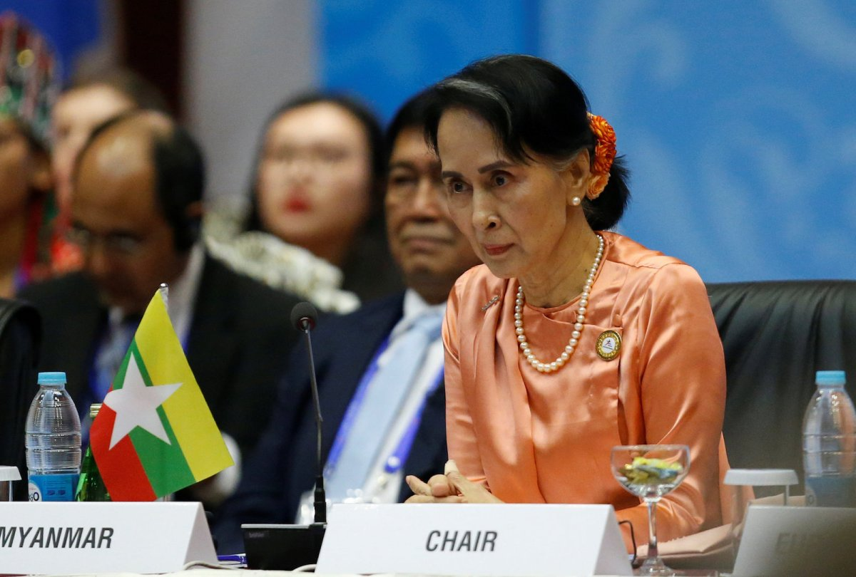 Myanmar State Counselor Aung San Suu Kyi attends the 13th Asia Europe Foreign Ministers Meeting (ASEM) in Naypyitaw, Myanmar, November 20, 2017. Photo: Reuters/Stringer