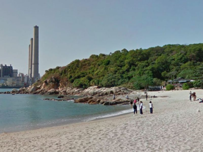 Hung Shing Yeh Beach, Lamma Island. Photo: Google Maps