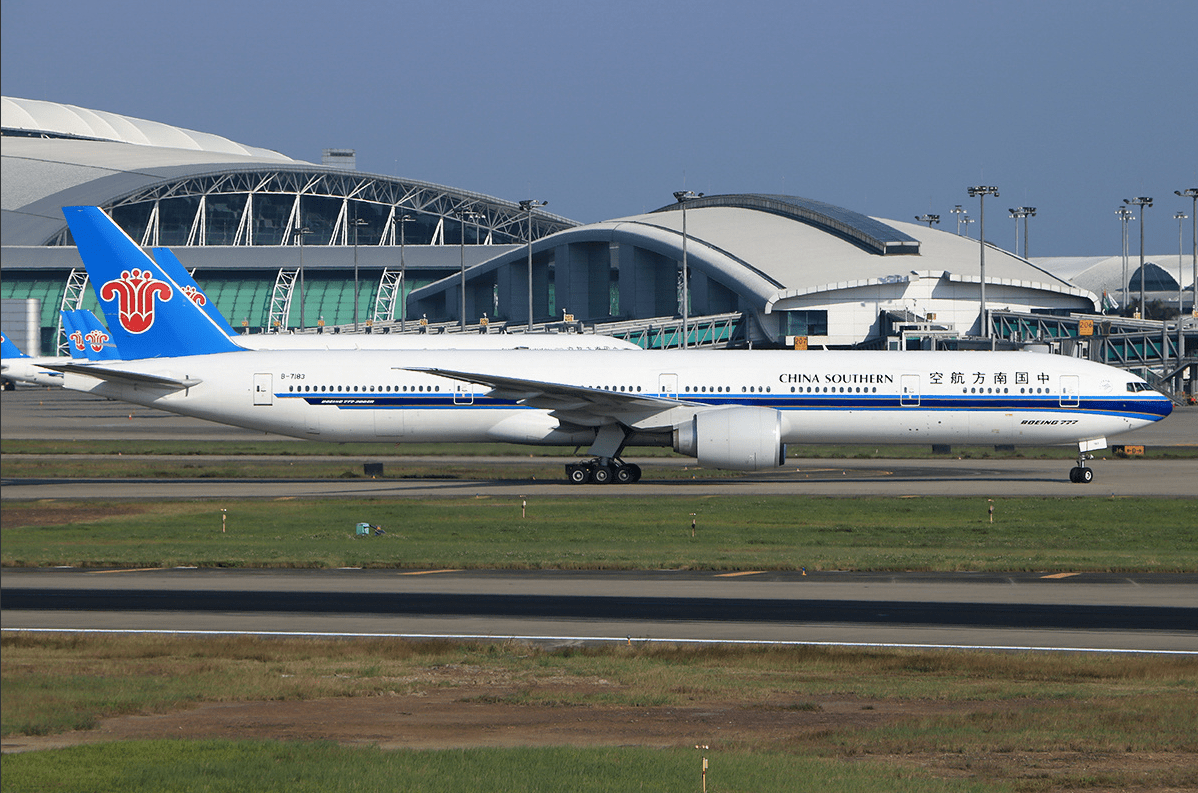A China Southern Airlines Boeing 777 passenger jet is seen at Guangzhou Baiyun International Airport. Photo: Zhang Yimo/ planespotters.net