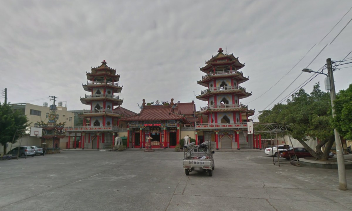 The Buddhist temple on Dazhi Road, Luzhu district, Kaohsiung, Taiwan. Photo: Google Maps