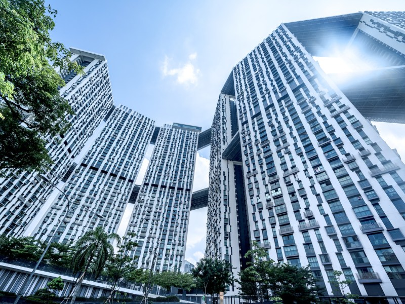 High-rise housing estates in Singapore, currently Southeast Asia's hottest property market. Photo: iStock